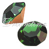Swarovski 1028 XILION Chaton Green Tourmaline PP30