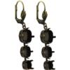 Empty Jewelry Earrings Setting for Swarovski 1088, 4470. Pair.