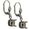 Empty Jewelry Earrings Setting for Swarovski 1088 SS47. Pair.