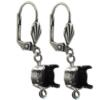 Empty Jewelry Earrings Setting with RING for Swarovski 1088 SS47. Pair.