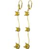 Empty Jewelry Wavy Earrings Lever Back for Swarovski 1088 SS29. Pair.