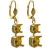 Empty Jewelry Earrings Setting for Swarovski 1088 ss39 & ss29. Pair.