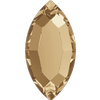 Swarovski 2200 Navette Flat Back Crystal Golden Shadow 4x2mm