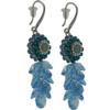 Earrings featuring Aqua/Blue Zircon/Crystal fancy stone from Swarovski