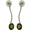 Earrings featuring Vitrail Medium round fancy stone from Swarovski on gold
