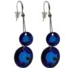 Earrings featuring Bermuda Blue fancy stone from Swarovski