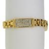 "7.5"" bracelet featuring Crystal Swarovski stones in gold bracelet"
