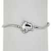 "7.5"" bracelet featuring Crystal Swarovski stones in silver settings"