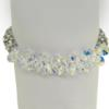 "7.5"" bracelet featuring Crystal and Crystal AB Swarovski stones in silver settings"