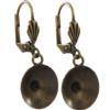 Empty Jewelry Earrings Setting for Swarovski 1122 12 mm. Pair.