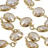 Swarovski 1122 Bead Chain, Jewelry Chain 29ss Crystal AB/Gold