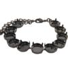 Empty Cupchain Bracelet for Swarovski 1122 ss47 Rivoli's Hematite