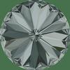 Dreamtime Crystal DC 1122 Rivoli Round Stone Black Diamond 12mm