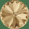 Dreamtime Crystal DC 1122 Rivoli Round Stone Crystal Golden Shadow 12mm