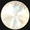Dreamtime Crystal DC 1122 Rivoli Round Stone Crystal Ivory Cream DeLite 12mm