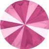 Swarovski 1122 Rivoli Round Stone Crystal Peony Pink 12mm