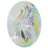 German Oval Glass Cabochon Swirl 25x18mm Crystal AB Bright