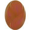German Oval Glass Cabochon Swirl 25x18mm Crystal Matte/Mahogany
