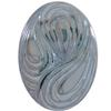 German Oval Glass Cabochon Swirl 25x18mm Crystal Bright/Mystique