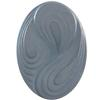 German Oval Glass Cabochon Swirl 25x18mm Crystal Matte/Mystique