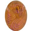 German Oval Glass Cabochon Swirl 25x18mm Crystal Bright/Summer Blush