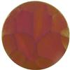 German Round Glass Cabochon Facetted 16mm Crystal Matte/Mahogany