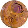 German Round Glass Cabochon Swirl 18mm Crystal Bright/Summer Blush