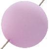 German Bright Bon Bon Bead 20mm Lavender Matte