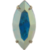 Swarovski 13304 Sew On Rhinestones (in Settings) 15x7 Crystal AB