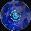 Swarovski 1400 Dome Round Stone Crystal Bermuda Blue 14mm
