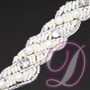 Beaded Trim with Rhinestone Accent