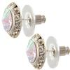 16mm Rondelle with Crystal AB Rivoli Button Earrings