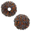 Beadelle® Pave Crystal Bead Chocolate/Smoked Topaz 10mm