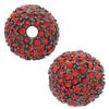 Beadelle® Pave Crystal Bead Light Siam/Gunmetal 14mm