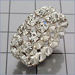 2 Row Rhinestone Ring