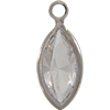 Swarovski 53300 Channel Link Charm in Crystal/Rhodium