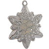 Swarovski Pave Edelweiss Charm or Pendant 14 mm White Opal with Crystal on Silver Edelweiss Flower