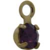 Swarovski 17704 Stone in Setting Amethyst/Gold PP24