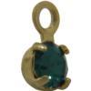 Swarovski 17704 Stone in Setting Emerald/Gold PP24