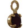 Swarovski 17704 Stone in Setting Garnet/Gold PP24