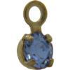 Swarovski 17704 Stone in Setting Light Sapphire/Gold PP24