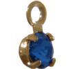 Swarovski 17704 Stone in Setting Sapphire/Gold PP24