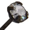 "Swarovski 17704A Head Pin .021 X 1.5"" Crystal PP24 Gunmetal"