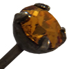 "Swarovski 17704E Head Pin .028 X 1.5"" Topaz PP32 Gunmetal"