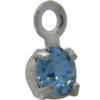 Swarovski 17704 Stone in Setting Aqua/Sterling Silver PP24
