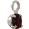Swarovski 17704 Stone in Setting Garnet/Sterling Silver PP24