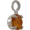 Swarovski 17704 Stone in Setting Topaz/Sterling Silver PP24