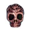 TIERRACAST® Antique Copper Skull Head Bead