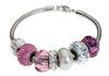 Swarovski 180000 BeCharmed Bracelet for Pave Beads 203mm Silver 8""