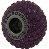 Swarovski 180101 BeCharmed Pave Beads 14mm Amethyst